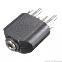 Đầu chuyển đổi Audio 3.5mm âm ra 2 đầu RCA hoa sen