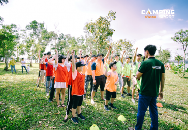 Địa điểm tổ chức Team building gần Hà Nội lý tưởng nhất - Camping Sport Đồng Mô