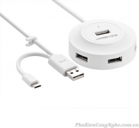 Bộ chia 4 cổng USB chính hãng Ugreen 20271 hỗ trợ OTG