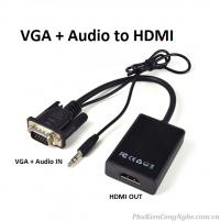Cáp chuyển đổi VGA + Audio sang HDMI (VGA to HDMI)